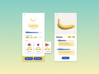 Health App fitness blue yellow ui ideas mobile vitamin iphonex uxui fresh health and fitness iphone healthy concept ingredient app uidesign food health care health app