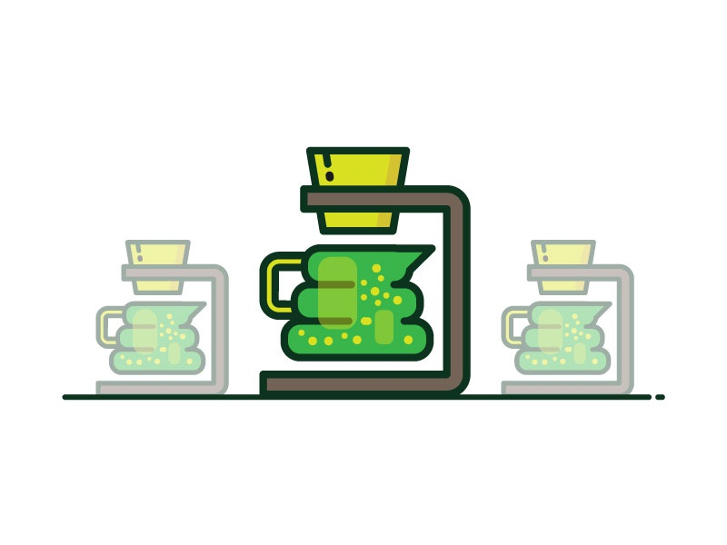 Exploration flat icon coffee exploration stuff icon