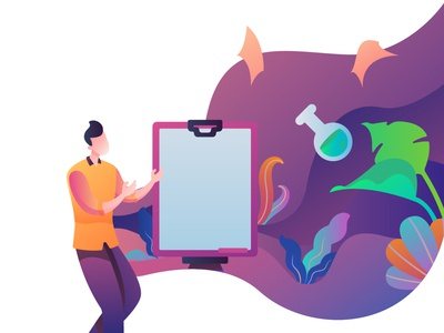 Learning on Happy Teacher's Day Illustration