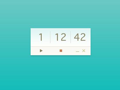 Simple time tracker ui