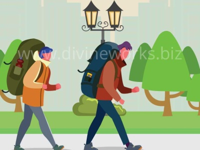 Tourist Couple Vector Illustration couple vector tourism vector vector art vector graphic illustration graphic design vector illustration adobe illustrator