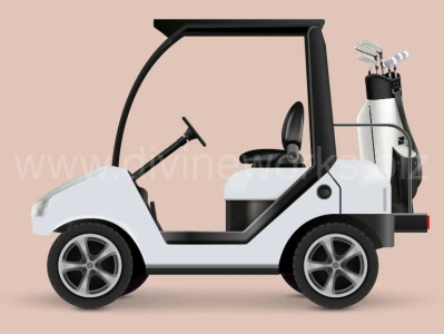 Golf Car Vector Illustration golf club golf car vector illustration golf caddy car vector golf car vector adobe illustrator vector art vector graphic graphic design illustration vector illustration