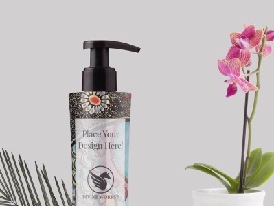 Free Cosmetic Pump Bottle Mockup mockup design psd graphic design mockup design mockup psd adobe photoshop