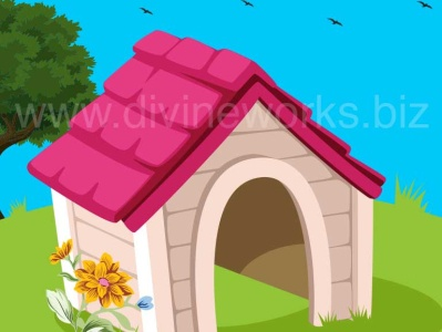 Dog House Vector Illustration vector design animal house vector pet house vector dog house vector adobe illustrator vector art graphic design vector illustration