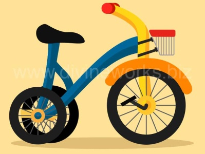Baby Tricycle Vector Illustration vector art vector graphic illustration tricycyle vector baby tricycle vector vector illustration adobe illustrator