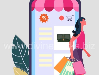 Online Mobile Shopping Vector vector art online mobile shopping vector mobile shopping vector illustration vector graphic graphic design adobe illustrator