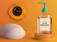 Free Hand Sanitizer Bottle Mockup branding graphic design psd mockup design mockup psd adobe photoshop