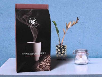 Free Coffee Packaging Mockup at Divine Works psd mockup freemockups graphicdesign
