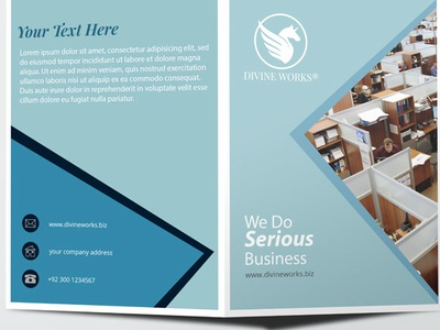Half Fold Brochure Mockup By Divine Works Dribbble Dribbble