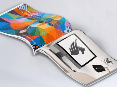 Open Landscape Book Mockup