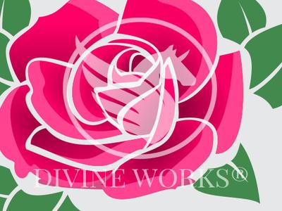 Rose Flower Vector Illustration By Divine Works Dribbble Dribbble