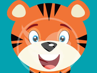 Baby Tiger Vector Illustratio
