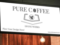 Free Coffee Shop Sign Mockup at Divine Works