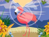 Free Adobe Illustrator Flamingo Vector Illustration