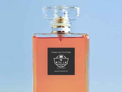 Free Perfume Bottle Mockup psd design presentation mockup design graphic design