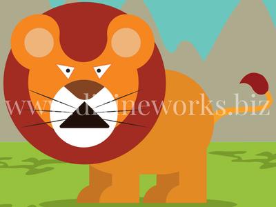 Lion Character Vector Illustration