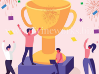 Free Adobe Illustrator Winner Employees Vector Illustration