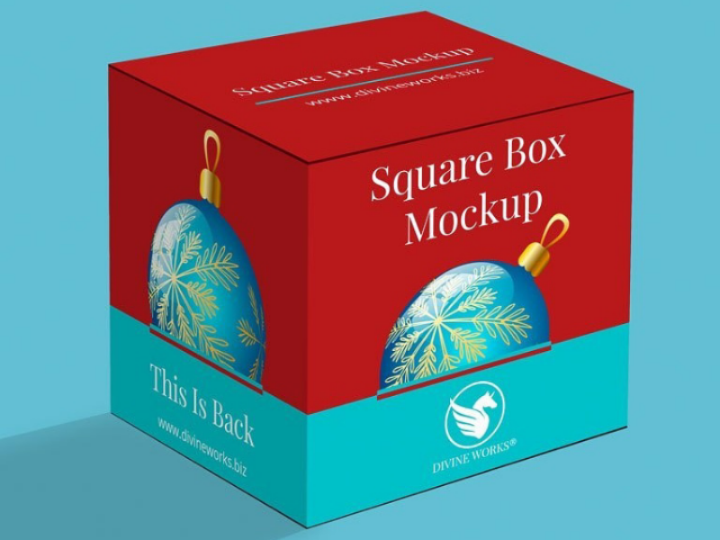 Free Square Box Packaging Mockup By Divine Works On Dribbble