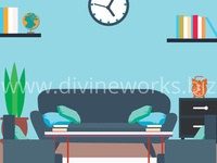 Free Living Room Vector Illustration