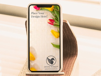 Free Docked iPhone XS Mockup