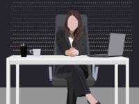 Free Adobe Illustrator Woman Boss Vector Illustration