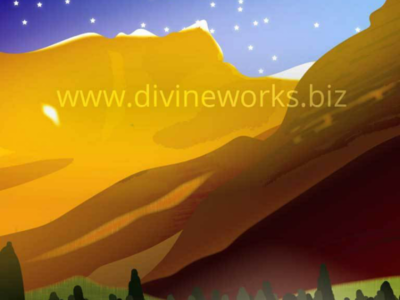 Free Vector Mountain Landscape Illustration