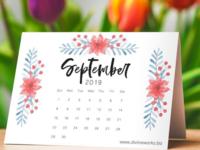Free Table Calendar Mockup