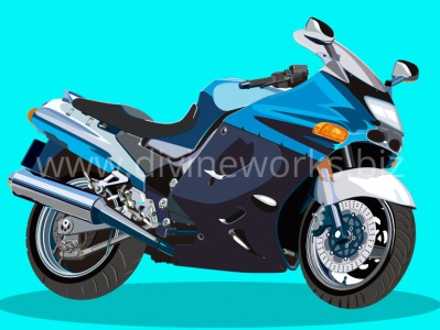 Heavy Bike Vector Illustration