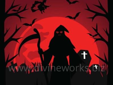 Scary Night Halloween Vector