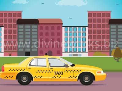 Taxi Vector Illustration