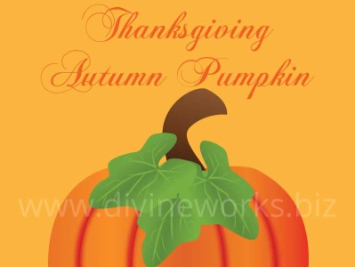 Thanksgiving Pumpkin Vector