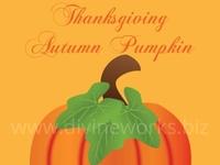 Thanksgiving Pumpkin Vector