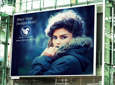 Outdoor Billboard Building Mockup
