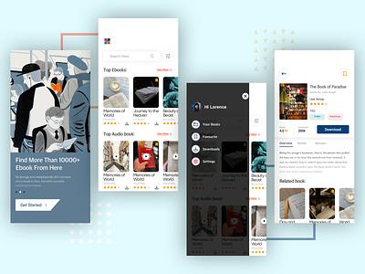 Ebook App Design for mobile. app ebook mobile app