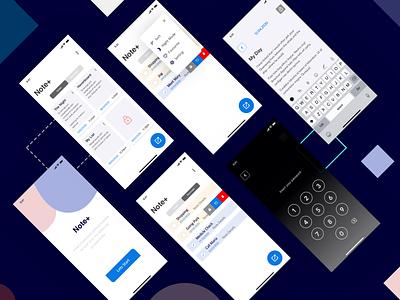 Note+ App ui note mobile app