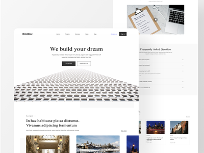 ARCHWORLD Landing Page digital art designs subtle design minimal ui  ux landing page design landing page webdesign web
