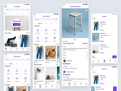 Outlet Shop shopping app concept shop design ux ui app