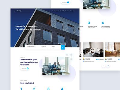 Rent Website webpage apartment interface clean ui website concept website design concept
