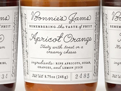 Bonnie's Jams  john passafiume lettering packaging jams design