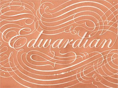 Edwardian script dribbble