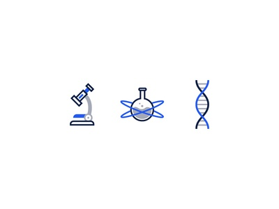 Laboratory themed icons