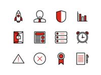 Duotone icons set