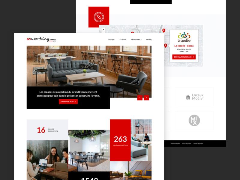 Coworking homepage webdesign