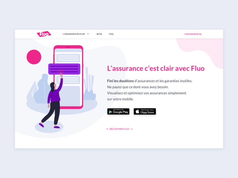 Webdesign insurance company (UX/UI & illustration)