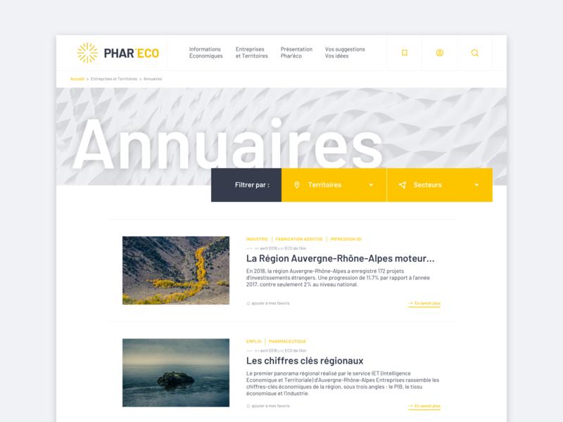 Directory page - UI/UX Design