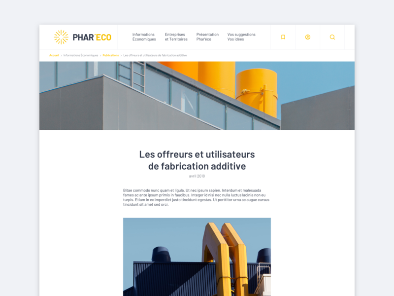 Article page - UX/UI Design