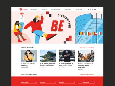 French high school - UX/UI design