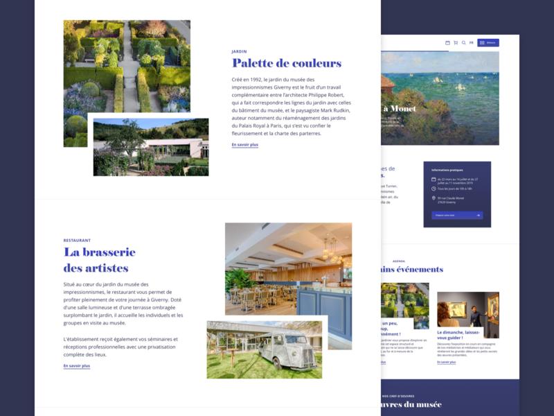 Impressionist museum home - UX/UI Design