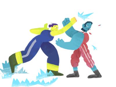 Awanto 3 Fight! punsh effect fight boxing illustration photoshop cutout