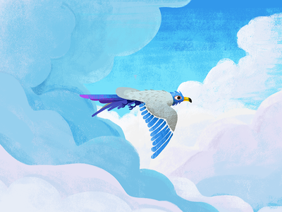 Paradise Bird paradise free blue painting sky bird illustration photoshop cutout